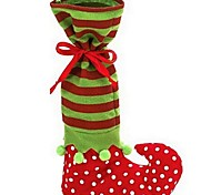 1Pc Christmas Elf Boot Sock Candy Bag Santa Claus Candy Gift Bag Christmas Supplies