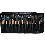 24 Makeup Brushes Set Nylon Portable Wood Face G.R.C