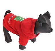 Cat / Dog Hoodie Red Dog Clothes Winter Solid Christmas / New Year's