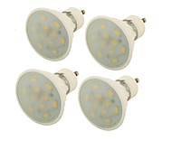 5W GU10 Focos LED MR16 10 SMD 5730 400 lm Blanco Cálido Decorativa V 4 piezas