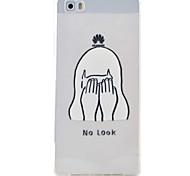 padrão de menina caso material de proteção TPU telefone para Huawei Huawei y5 honra ii 5a y6 ii p9 Lite p8 Lite