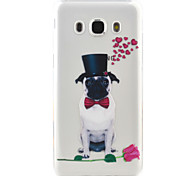 Top Hat Dog Pattern TPU  Protection Material Phone Case for Samsung Galaxy J7 (2016) J5 (2016) J3  J3 (2016)