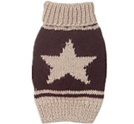 Dog Sweater Blue / Brown Dog Clothes Winter Stars Keep Warm