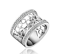 Jewelry Women Hollow Silver Ring Sterling Silver Rings Statement Rings