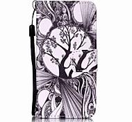 árboles en blanco y negro que pinta la caja del teléfono de la PU para el itouch de la manzana 5 6