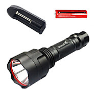 CREE Light Bulb 5W LED Aluminum alloy Flashlight with Battery Charger with 18650 battery Outdoor Camping 1 Set