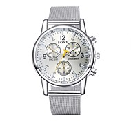 Men's Dress Watch Fashion Watch Wrist watch Water Resistant / Water Proof Quartz Alloy Band Silver