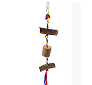 Portable Wood Brown Bird Toys1PC