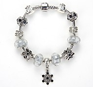 Buckle Crystal Bracelet Fashion Crystal Glass Beaded Bracelet Wholesale Jewelry Selling European and American Nations DIY