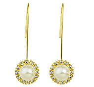 Imitation Pearl Long Drop Earrings