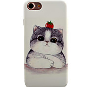 For iPhone 7 7 Plus 6S 6 Plus Case Cover Cute kitten Pattern Oil Color Relief Luminous PC Material All-inclusive Phone Case