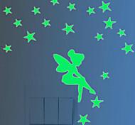 Luminous Wall Post Fairy And Stars Glow Fluorescent Christmas Wall Stick Simpson 10*8CM