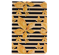 For Apple iPad Mini 4  iPad Mini 3 2 1 Case Cover Autumn Leaves Stent Card PU Leather Material Flat Protective Shell
