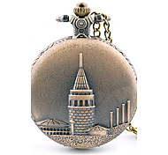 Vintage Alloy Analog Quartz Pocket Watch (Bronze) Cool Watch Unique Watch Fashion Watch