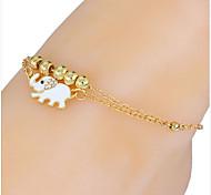 materiais / pulseira material de recurso de forma tornozeleira mostrado jóias quantidade 2.anklet / pulseira de material de material de