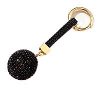 Porta-Chaves Hobbies de Lazer Porta-Chaves / Diamante / Vislumbre Circular Metal Preta Para Meninos / Para Meninas