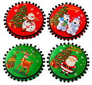 Holiday Supplies Circular Plush Red / Green