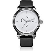 Unisex Fashion Watch / Wrist watch Quartz Calendar / Water Resistant/Water Proof Leather Band