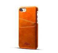 Para Funda iPhone 7 / Funda iPhone 7 Plus Soporte de Coche Funda Cubierta Trasera Funda Un Color Dura Cuero Sintético para AppleiPhone 7