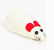 Cat Pet Toys Squeaking Toy Mouse Beige Textile
