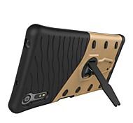 Для sony xperia xz e5 броня с покрытием для стойки задняя крышка корпус жесткий шт