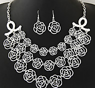 Jewelry 1 Necklace 1 Pair of Earrings Daily Casual 1set Women Gold Silver Wedding Gifts