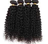 1 pezzo Kinky Curly Tessiture capelli umani Brasiliano 0.1 kg 8-30 Inch Estensioni dei capelli umani