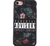 For iPhone 7 Case iPhone 6 Case iPhone 5 Case Pattern Case Back Cover Case Flower Soft TPU for AppleiPhone 7 Plus iPhone 7 iPhone 6s Plus