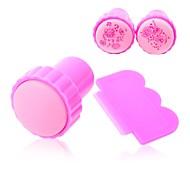 1set ногтей пластиковые набор для ногтей Стампер скребок