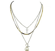 Fashion Multilayers Long Chain Pendant Necklaces