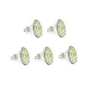 6W GU4(MR11) Ampoules à Filament LED 12 SMD 5730 570 lm Blanc Chaud / Blanc Froid DC 12 V 5 pièces