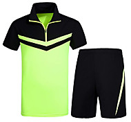 Running Tracksuit / Clothing Sets/Suits Unisex Short Sleeve Soft / Comfortable Cotton Running Sports Sports Wear SlimIndoor / Outdoor