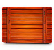 Orange Wooden Pattern MacBook Computer Case For MacBook Air11/13 Pro13/15 Pro with Retina13/15 MacBook12