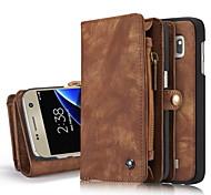 Для Кошелек Бумажник для карт со стендом Флип Кейс для Чехол Кейс для Один цвет Твердый Натуральная кожа для Samsung S8 S8 Plus S7 edge S7