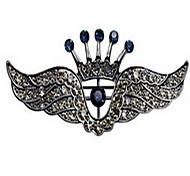 Korean Men Alloy Crown of Wings Brooch
