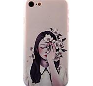 Для Рельефный / С узором Кейс для Задняя крышка Кейс для Соблазнительная девушка Твердый Акрил для AppleiPhone 7 Plus / iPhone 7 / iPhone