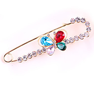 Women's Fashion Alloy/Rhinestone Butterfly Brooches Pin Wedding/Party/Daily Scarf Clips Jewelry Accessory 1pc