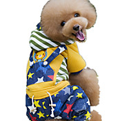 Dog Clothes/Jumpsuit Yellow / Pink Dog Clothes Winter / Spring/Fall Stars Cute / Casual/Daily / Keep Warm