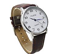 Men's Wrist watch Quartz Plastic Band Casual Brown Brand