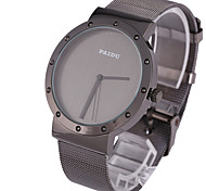 Men's Sport Watch Dress Watch Fashion Watch Wrist watch Punk Quartz Stainless Steel Band Vintage Casual Cool Black
