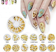 1Box  Nail Art Act The Role Ofing Is Tasted Metallic Rivet Nail A Small Grain Of Alloy Strips Decoration Plate Armour Oil Glue Nail Tools