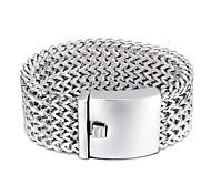 Bracelet Chaînes & Bracelets Acier inoxydable Autres Mode Anniversaire Soirée Quotidien Décontracté Bijoux Cadeau Argent,1pc