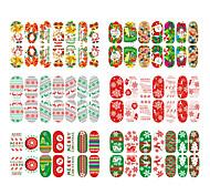 6pcs Nail Art Sticker  3D Nail Stickers Makeup Cosmetic Nail Art Design