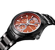 SINOBI Men's Fashion Casual  Quartz Movmt Black Band Watches Wrist Watch Cool Watch Unique Watch