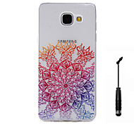 For Samsung Galaxy A5(2016) A3(2016) Case Cover Sunflower Pattern Super Soft Painting TPU Material Phone CaseTouch Screen Pen