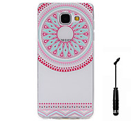 For Samsung Galaxy A5(2016) A3(2016) Case Cover On The Semicircular Flowers Pattern Super Soft Painting TPU Material Phone CaseTouch Screen Pen