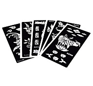 6 Pieces Henna Tattoo Stencil Airbrush Painting Henna Paste Drawing Bird Body Art Painting Tattoo Stencil