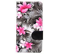 For Sony Xperia Z3 Mini Z3 Flowers PU Leather Case for Sony Xperia M2 Sony Xperia M4 Sony Xperia E4
