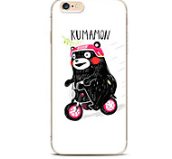 For Pattern Case Back Cover Case Cartoon  Bears Cycling Soft TPU for iPhone 7 7 Plus 6s 6 Plus SE 5s 5 4s 4 5C