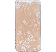 For Google Pixel XL Pixel TPU Material White Butterfly Pattern Wave Non-Slip Painting Phone Case